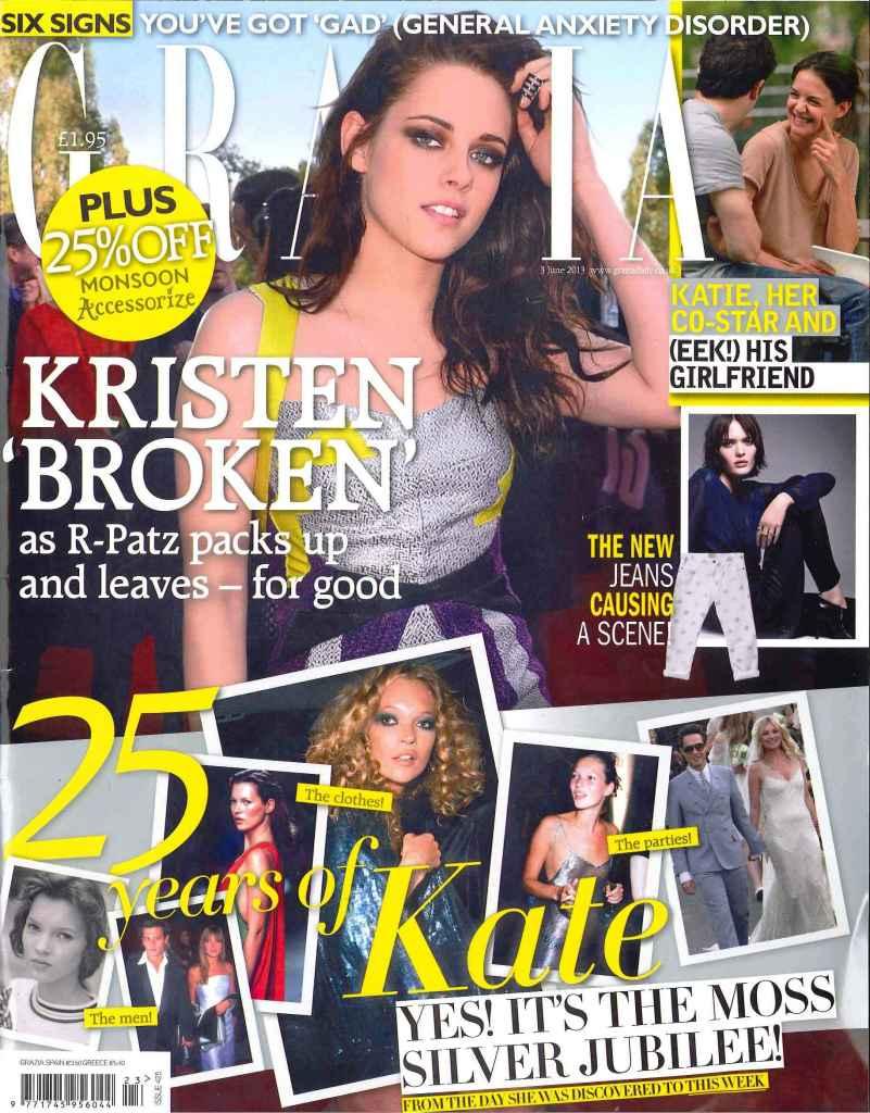 Grazia Magazine, Kristen and Kate Moss