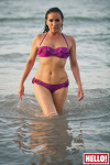 Audrey Volants Bikini Top Fuchsia