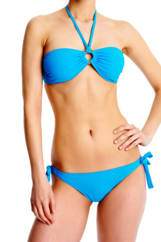 Elizabeth Classique Bikini Top Aqua