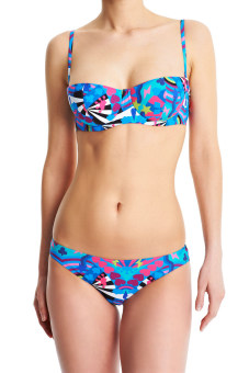 Audrey Crowns in the Sky Bikini Top Print