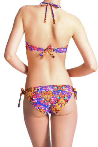 Elizabeth Bali Hai Bikini Top Print