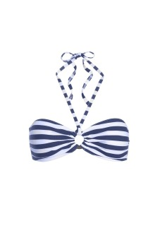 Elizabeth Breton Chic Top Blue & White Stripe