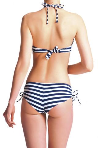 Elizabeth Breton Chic Top Blue & White Stripe