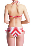 Elizabeth Breton Chic Bikini Top Red & White Stripe