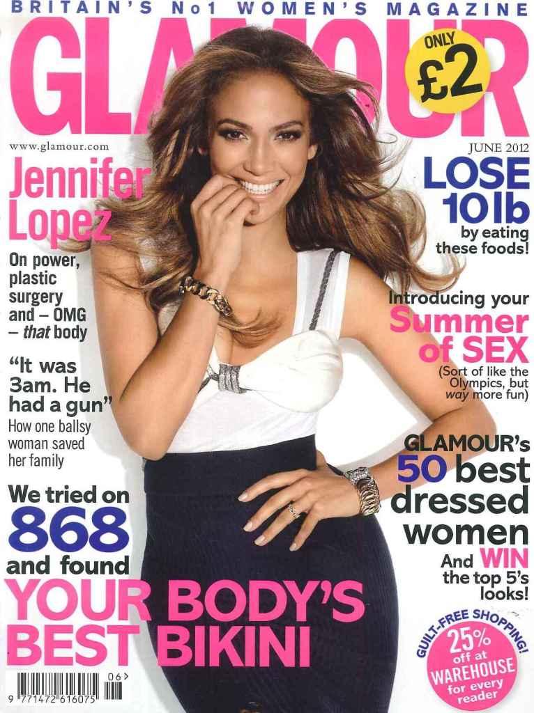 GLAMOUR Magazine Jennifer Lopez