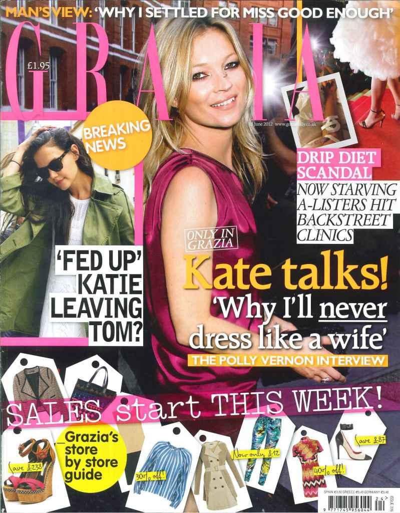 Grazia Magazine Kate Moss